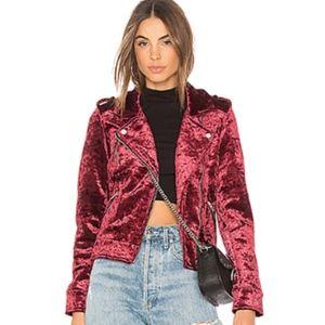 NWOT BlankNYC Velvet Moto Jacket